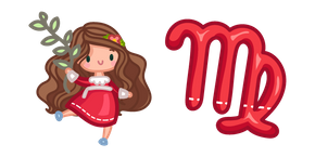 Cute Zodiac Sign Virgo Cursor