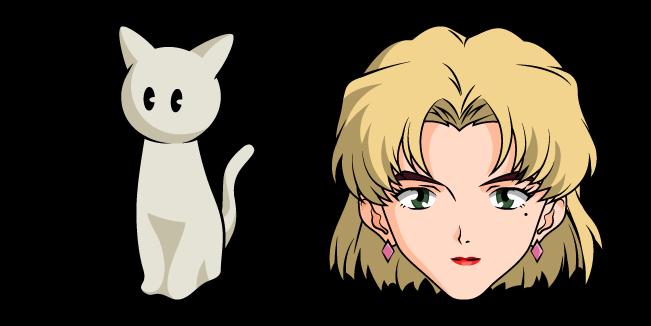 Neon Genesis Evangelion Ritsuko Akagi and Cat Figure