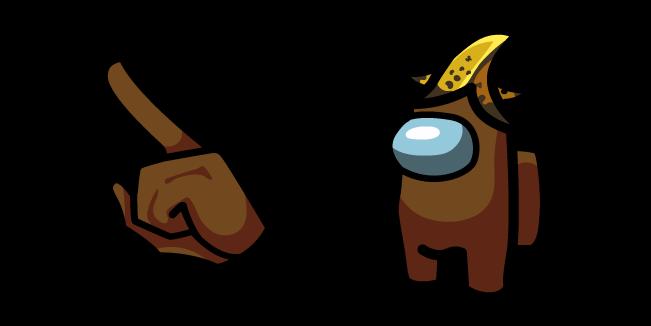 Among Us Brown Character in Banana Hat
