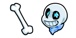 Undertale Blueberry Sans and Bone Cursor