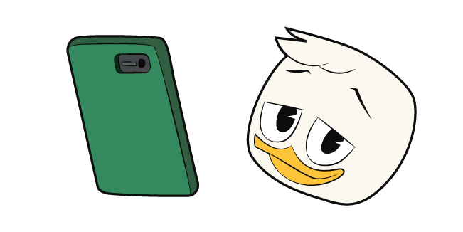 DuckTales Louie Duck and Phone