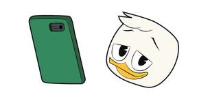 DuckTales Louie Duck and Phone Cursor