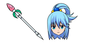 KonoSuba Aqua and Staff Cursor