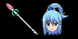 KonoSuba Aqua and Staff Curseur