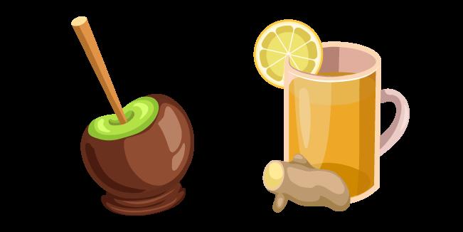 День Благодарения Имбирный Напиток и Яблоко в Шоколаде