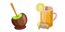 Thanksgiving Day Ginger Drink and Chocolate Apple Cursor