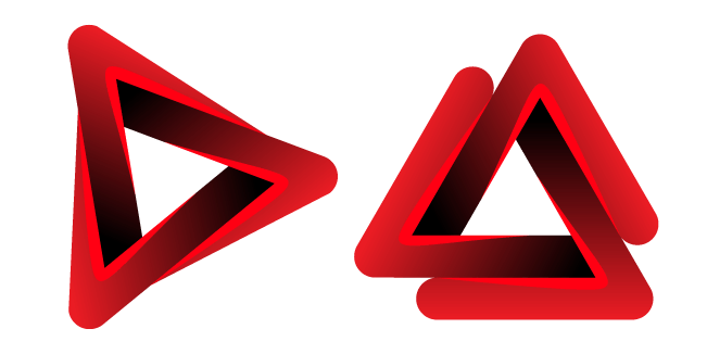 Red Penrose Triangle