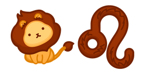 Cute Zodiac Sign Leo Cursor