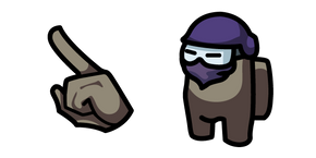 Among Us Tan Character in Ninja Mask Cursor