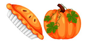 Thanksgiving Day Pumpkin Pie and Pumpkin Cursor