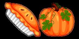 Thanksgiving Day Pumpkin Pie and Pumpkin Cursor