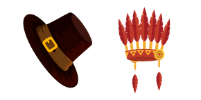 Thanksgiving Day Hats Cursor