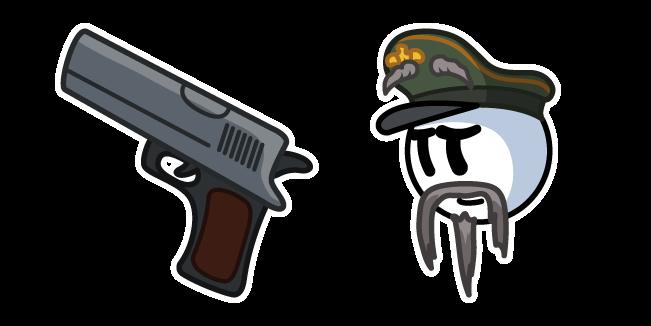 Henry Stickmin General Hubert Galeforce and Pistol