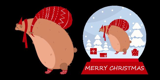 Рождество Снежный Шар и Медведь