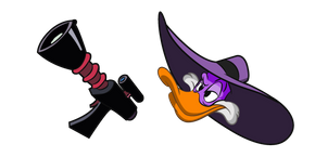 Darkwing Duck and Gun Curseur