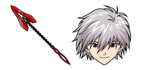 Neon Genesis Evangelion Kaworu Nagisa and Spear of Cassius Cursor