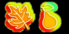 Neon Autumn Leaflet and Pear Curseur