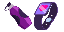 Sports Watch and Water Bottle Cursor