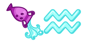 Cute Zodiac Sign Aquarius Cursor