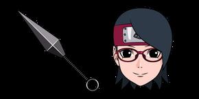 Naruto Sarada Uchiha and Shuriken Cursor