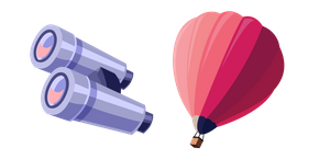 Air Balloon and Binoculars Cursor