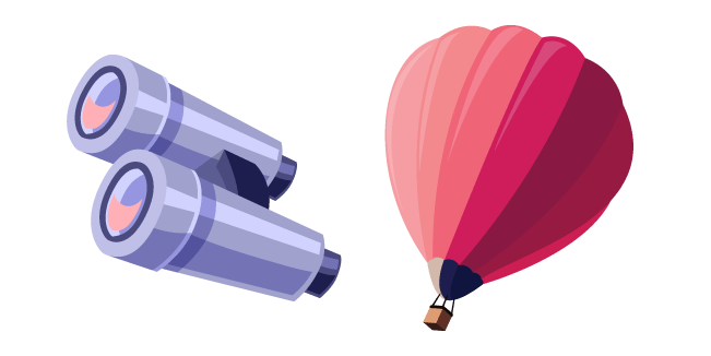 Air Balloon and Binoculars