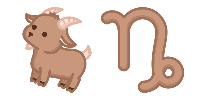 Cute Zodiac Sign Capricornus