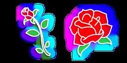 Neon Rose Cursor