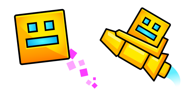 Geometry Dash Player Cube and Ship