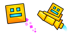 Geometry Dash Player Cube and Ship Cursor