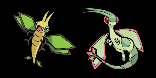 Pokemon Vibrava and Flygon