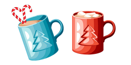 Cocoa with Marshmallows and Candy Cane Cursor