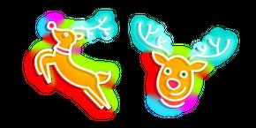 Neon Christmas Deer Cursor
