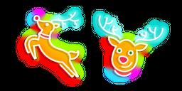 Neon Christmas Deer Curseur