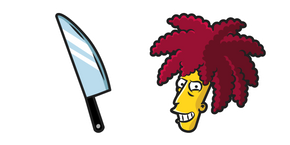 The Simpsons Sideshow Bob and Knife Cursor