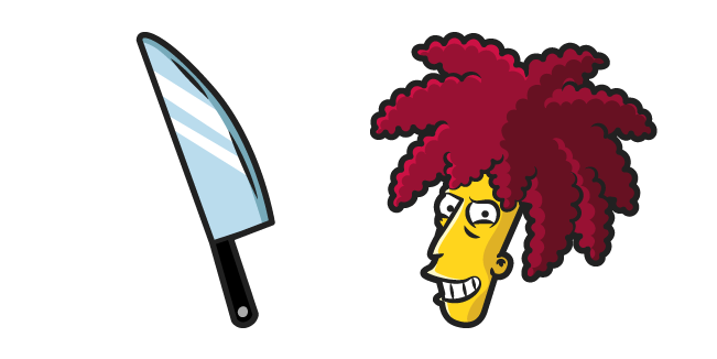 The Simpsons Sideshow Bob and Knife