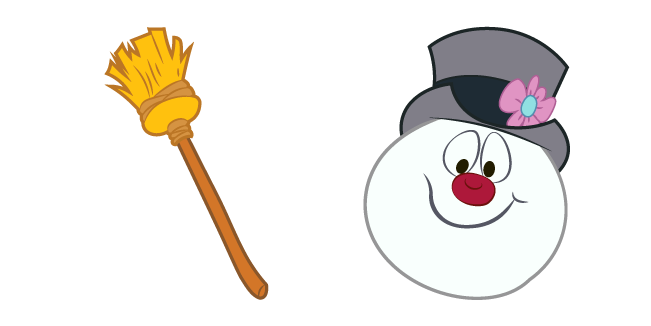 Frosty The Snowman and Broom