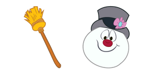Frosty The Snowman and Broom Cursor