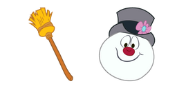 Frosty The Snowman and Broom Curseur