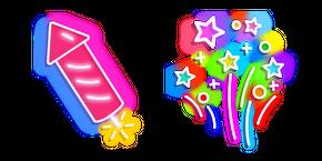 Neon Firework Curseur
