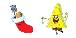 SpongeBob and Christmas Sock Curseur