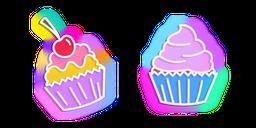 Neon Cupcake Cursor
