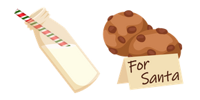 Christmas Milk and Cookie for Santa Cursor