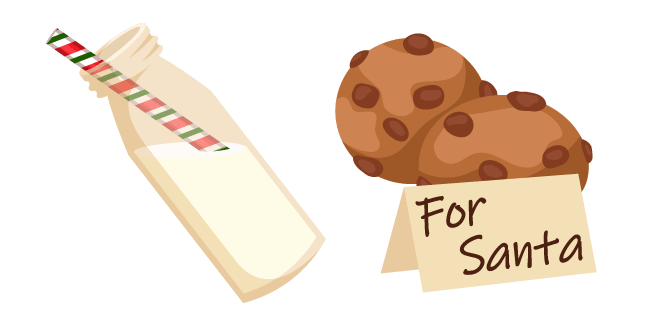 Рождество Молоко и Печенье для Санты