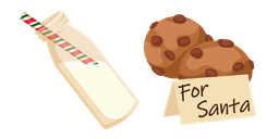 Christmas Milk and Cookie for Santa Curseur