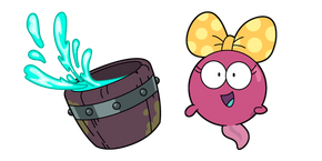 Amphibia Polly Plantar and Wooden Bucket  Cursor