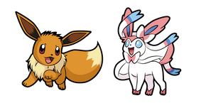 Pokemon Eevee and Sylveon Curseur