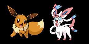 Pokemon Eevee and Sylveon