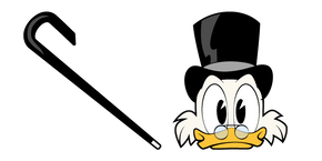 DuckTales Scrooge McDuck and Cane Curseur