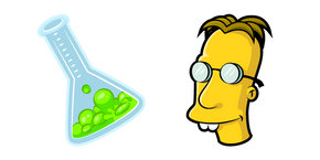 The Simpsons Professor Frink and Flask Cursor
